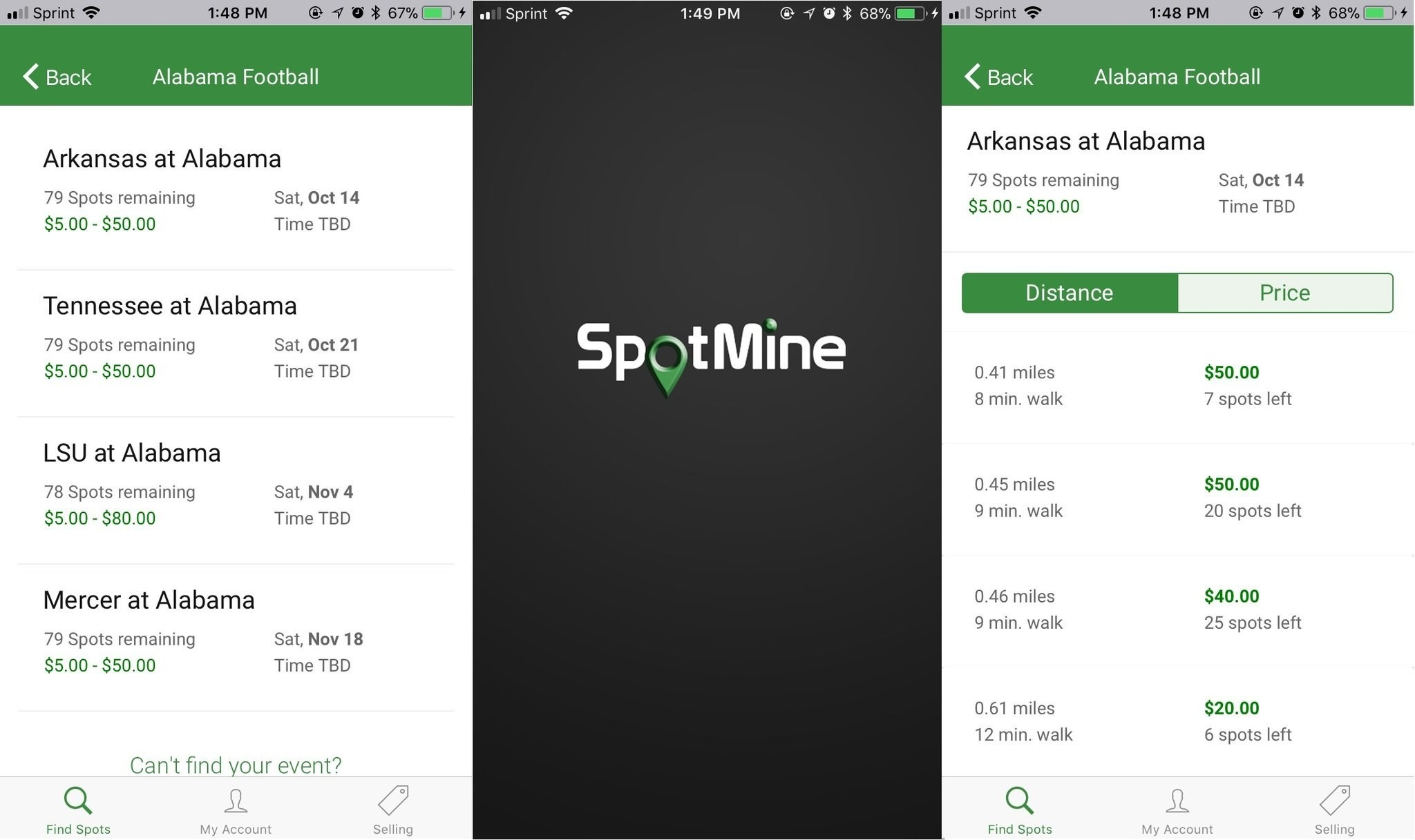 Startup offers parking marketplace on college game days - al com