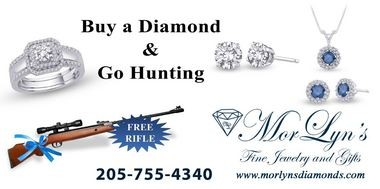 An advertisement offering a rifle to those who spend $2,500 at Mor Lyn's in Clanton. (Special)