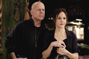 "Bruce Willis and Mary-Louise Parker in a scene from the the 2010 film ""RED,"" which was based on a comic books series Huntsville native Cully Hamner co-created. (Photo by Frank Masi. Copyright 2010 Summit Entertainment.)"