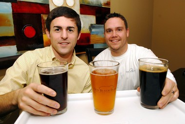 Old Black Bear Brewing Company's Daniel Levis and Todd Seaton. (Huntsville Times file photo/Dave Dieter)