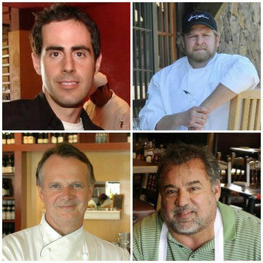 Alabama's James Beard Awards semifinalists for 2013 are, clockwise from top left, James Lewis of Bettola, Rob McDaniel of SpringHouse, Nick Pihakis of Jim 'N Nick's and Frank Stitt of Highlands Bar and Grill.