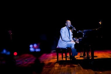 "Brian McKnight looked a lot like this on March 2, during his solo concert at Birmingham's Alys Stephens Center. ""For the last 21 years, I've been trying to entertain you with my little love songs,"" he said. (Brian McKnight website)"