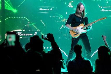 Maroon 5 guitarist James Valentine has his own connection to reality TV. (Tamika Moore   tmoore@al.com)