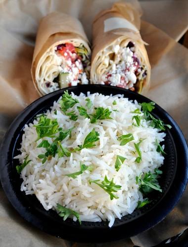 Tazili's basmati rice and veggie wrap (Joe Songer | jsonger@al.com)