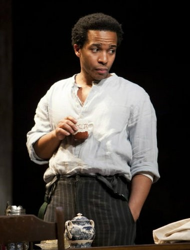 """Holland performed for Barack and Michelle Obama in a Lincoln Center Theater production of """"Joe Turner's Come and Gone."""" (T. Charles Erickson photo)"""