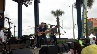 Space Capone brings its funky, disco-tinged party music to the BMI Stage at the Hangout Music Fest on Sunday, May 19, 2013. Aaron Winters is at center, with guitar. (Lawrence Specker/lspecker@al.com)