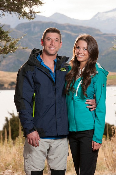 """Ryan Gwin and Madeline Mitchell, in a photo released before the premiere of """"Get Out Alive with Bear Grylls."""" (Paul Drinkwater/NBC)"""
