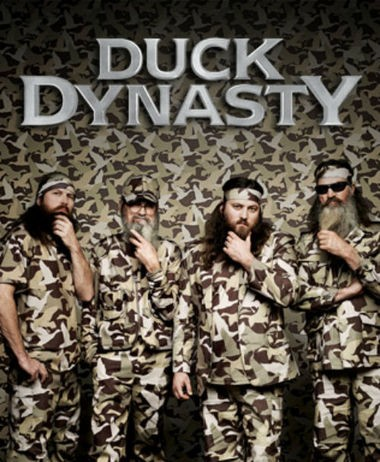 "An A&E promotional poster for ""Duck Dynasty."""