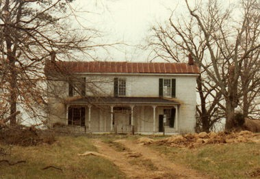 The Giles County, Tenn., farmhouse where Gwen Dugger was murder, shown above, is no longer standing in its original location. (Contributed photo)