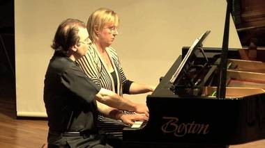 Adam Bowles and Kathryn Fouse performed at the 2012 soundSCAPE Festival in Maccagno, Italy