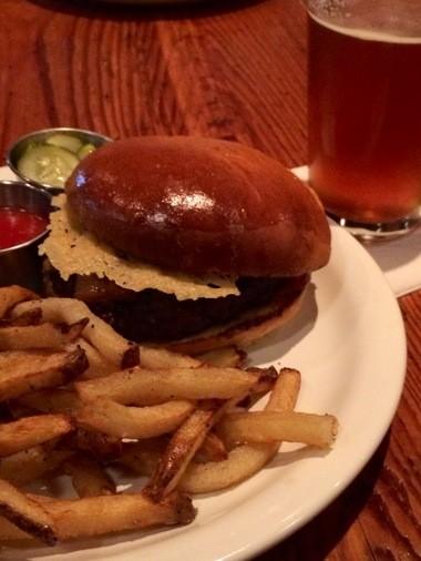 Burger and fries at FoodBar (photo by Susan Swagler).