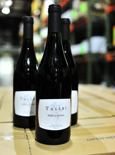The Tasari Nero d'Avola, pictured here, and the Tasari Grillo are available at grocery stores, wine shops and restaurants throughout Alabama. (Tamika Moore/tmoore@al.com)
