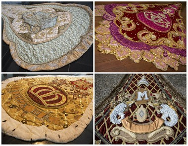 Elegant, symbolic trains of the Mardi Gras kings and queens of Mobile carry special meaning and tradition to the royals who represent the Mobile Area Mardi Gras Association and the Mobile Carnival Association. The trains, clockwise from top left, will be worn by MCA Queen Madeleine Maury Downing, MAMGA Queen Cecile Green, MAMGA King Elexis I Bennie Morris Mosley and MCA King Felix III Selwyn Horace Turner IV. (Mike Brantley | mbrantley@al.com)