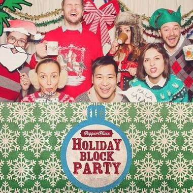A photo booth will be part of the festivities at the Pepper Place Holiday Block Party.