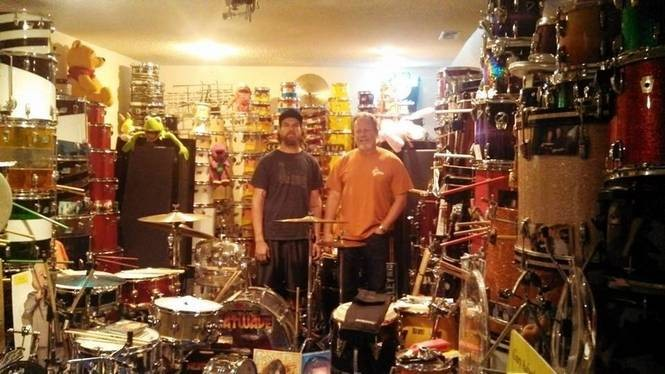 Alabama Shakes drummer Steve Johnson, left, and his dad Dave Johnson. (Courtesy photo)