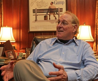 Author Winston Groom at home in Point Clear, Ala. (Mike Brantley/Press-Register file)