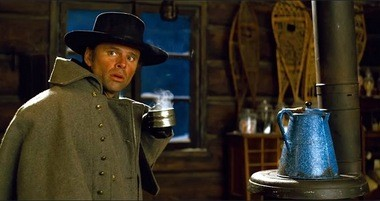 """Walton Goggins, above, shares as much screen time and dialogue as regular Quentin Tarantino players like Samuel L. Jackson and Kurt Russell in """"The Hateful Eight."""" (Weinstein Company)"""