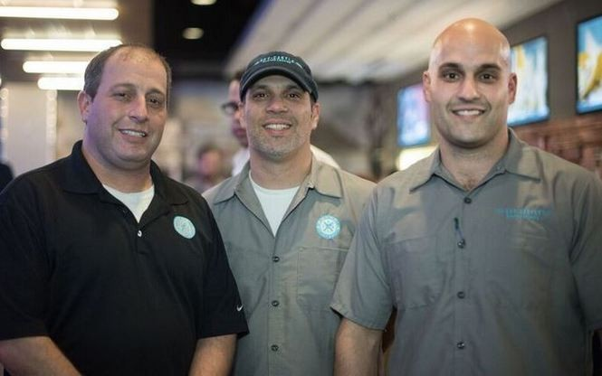 From left, brothers Chris, Jeff and Jason Bajalieh are co-owners of the new Sky Castle Gastro Lounge, a restaurant and bar that is opening Jan. 6, 2016, in Birmingham, Ala. (Photo by Andi Rice/www.instagram.com/riceandi)