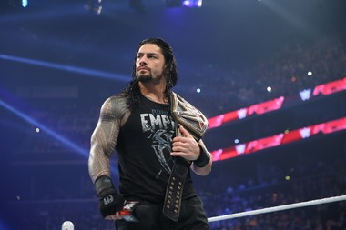World Wrestling Entertainment Champion Roman Reigns (photo courtesy of the WWE)
