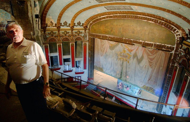 Cecil Whitmire, former executive director of the Alabama Theatre, in the upper balcony of the Lyric Theatre, fall 2005. (Tamika Moore | tmoore@al.com)