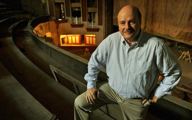 Brant Beene in the balcony of the Lyric Theatre, summer 2010. (The Birmingham News file/Bernard Troncale)
