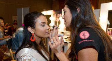 Morgan Abel, Miss Indiana, gets ready for a preliminary event for the Miss USA pageant. (Contributed photo/Miss USA)