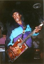 Blues singer Bo Diddley is shown performing at Tip Top Cafe in Huntsville in 1993. (Courtesy photo)