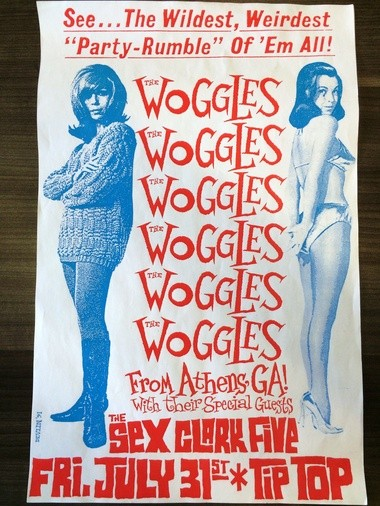 A flyer promoting a Woggles and Sex Clark Five show at Tip Top Cafe. (Courtesy photo)