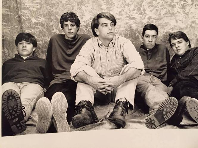 A photo of '90s Huntsville rock band Plaid. Alan Little is second from left. (Courtesy photo)