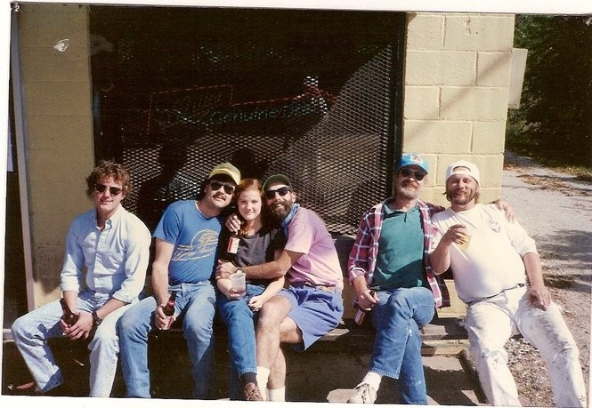 """Tip Top regular Mary Beth Williams Johns, third from left, is pictured with some of the now-closed bar and restaurant's """"day crowd."""""""