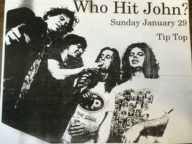A flyer promoting a band's show at Tip Top Cafe. (Courtesy photo)