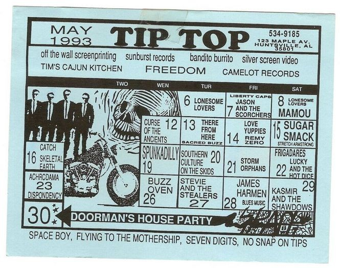 A Tip Top calendar from May 1993. (Courtesy photo)