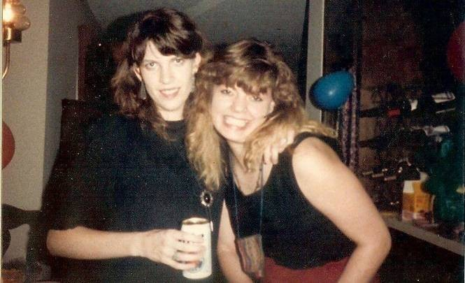 """Kami Falkenberry, right, and friend Kelley East Wall are shown """"pre-gaming"""" before a night out at Huntsville's Tip Top Cafe, circa 1989. (Courtesy photo)"""