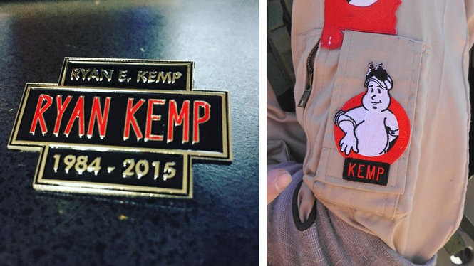 Special pins and patches were created in Ryan E. Kemp's honor.