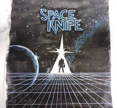 "Charlie DeButy's Space Knife poster makes an appearance in ""Stranger Things."" (Courtesy Charlie DeButy)"
