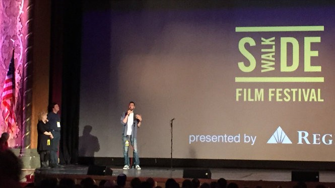 """Writer/Director Ti West during the Q&A following """"In A Valley Of Violence"""" Friday night."""