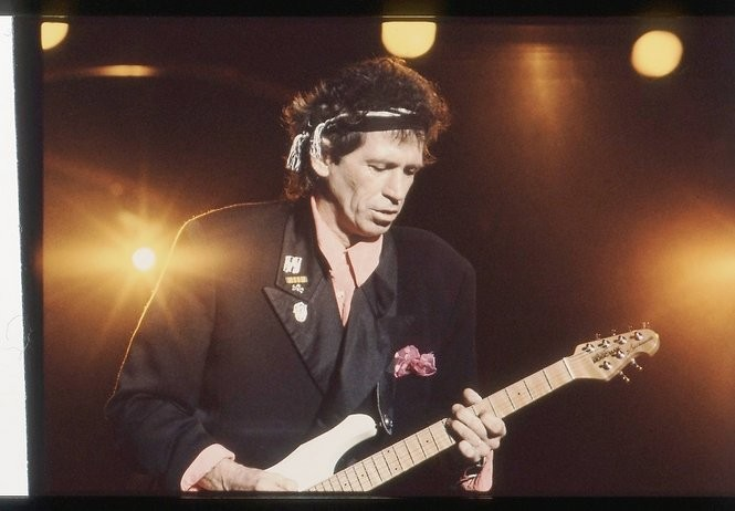 Keith Richards performs with the Rolling Stones at Birmingham's Legion Field in 1989. (File/Bernard Troncale/The Birmingham News)