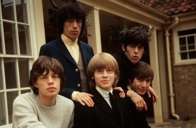 The Rolling Stones, left to right: Mick Jagger, Bill Wyman, Brian Jones, Keith Richards and Charlie Watts are seen in this mid-60s photo (AP Photo/PA)