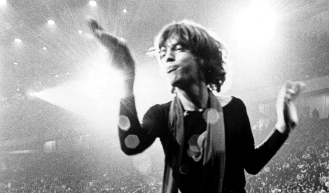 Mick Jagger performs during the Rolling Stones' 1969 tour. (Courtesy Everett Collection)