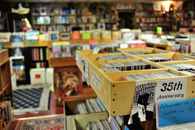 The interior of Charlemagne Record Exchange. (Tamika Moore/tmoore@al.com)