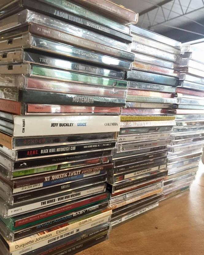 A pile of used CDs at Seasick Records. (Courtesy photo)