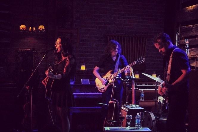 Amanda Shires, left, performs at Tangled String Studios. (Courtesy photo)