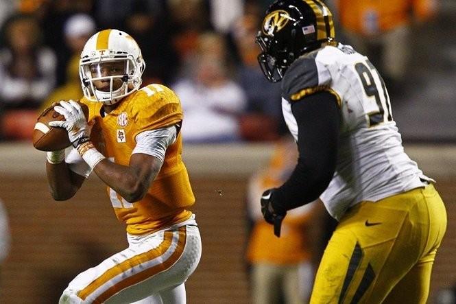Tennessee quarterback Joshua Dobbs. (AP Photo/Wade Payne, File)