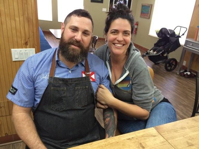 Chupper Time chef Brandon Crosby and wife Casey Crosby. (Matt Wake/mwake@al.com)