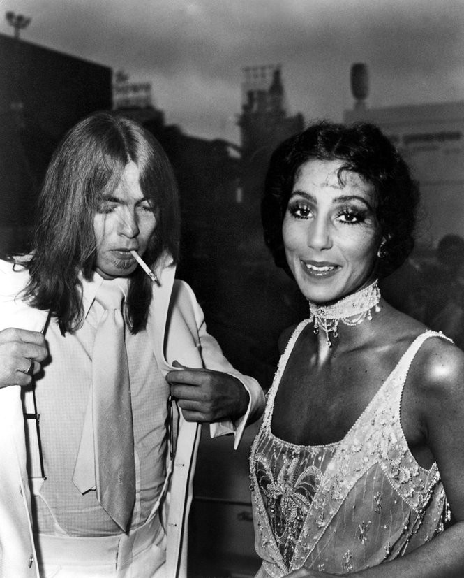 Gregg Allman and Cher in the mid-70s. (Courtesy Everett Collection)