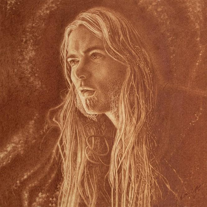 """Southern Blood"" portrait of Gregg Allman by Vincent Castiglia. (Courtesy image)"