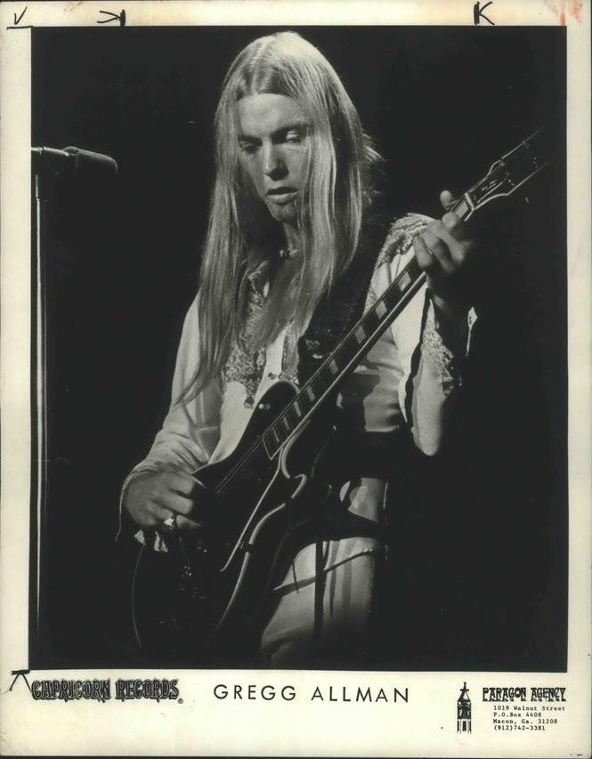 A vintage Capricorn Records publicity photo of Gregg Allman. (File/Capricorn Records)