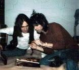 Wayne Perkins, left, and Keith Richards. (Courtesy Lynn David Elzey)