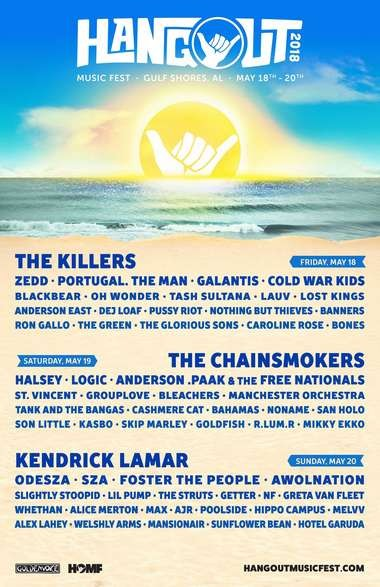 The 2018 iteration of Hangout Music Festival begins in Gulf Shores on Friday, May 18 through Sunday, May 20.