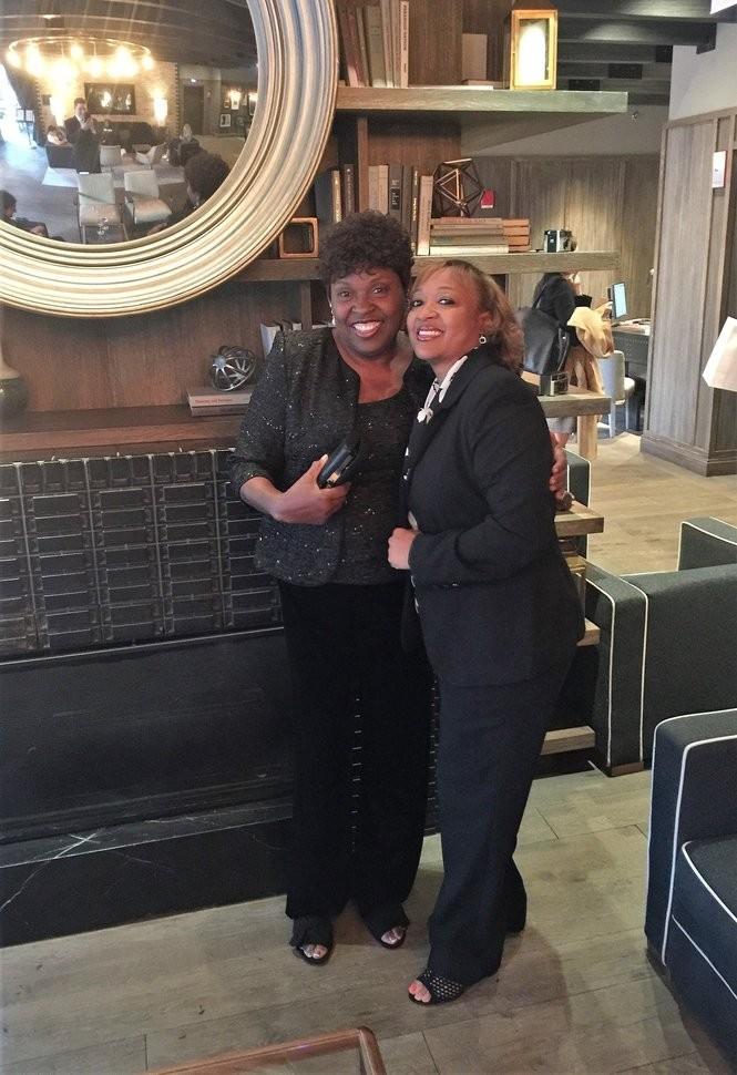 Dolester Miles, left, and her daughter, LaToya Phillips, before the 2018 James Beard Foundation Awards in Chicago. (Photo courtesy of LaToya Phillips)